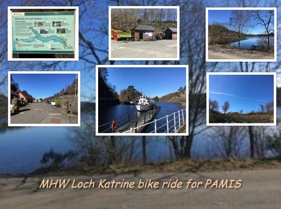 Glasgow University Loch Katrine bike ride for PAMIS