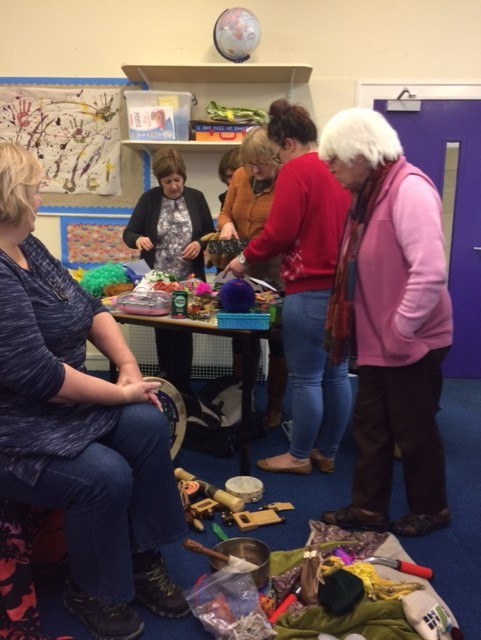 Exploring multi-sensory storytelling with Angus school teachers