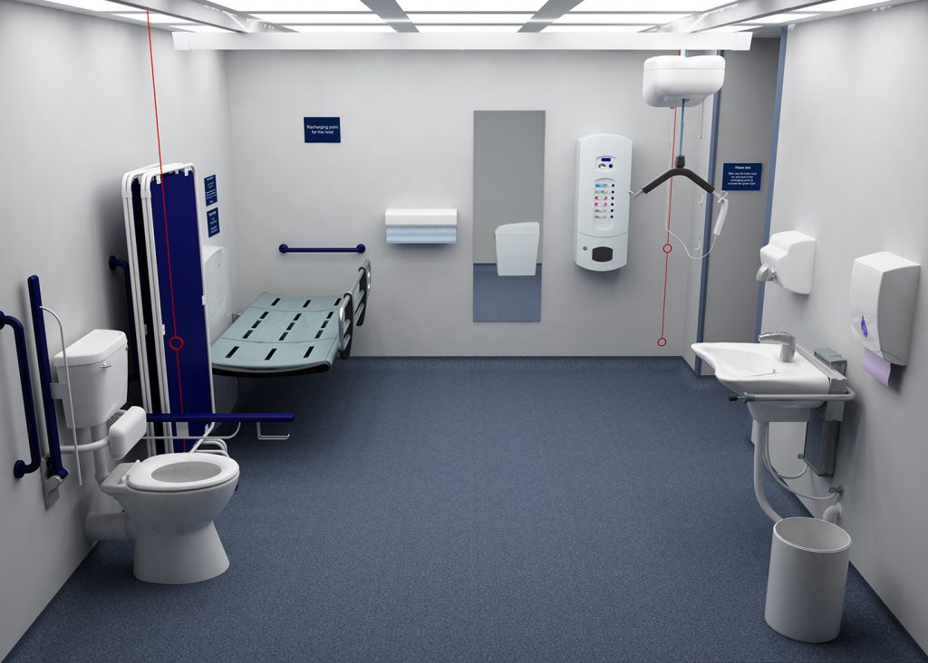 Changing places toilets pamis Bathroom design perth uk