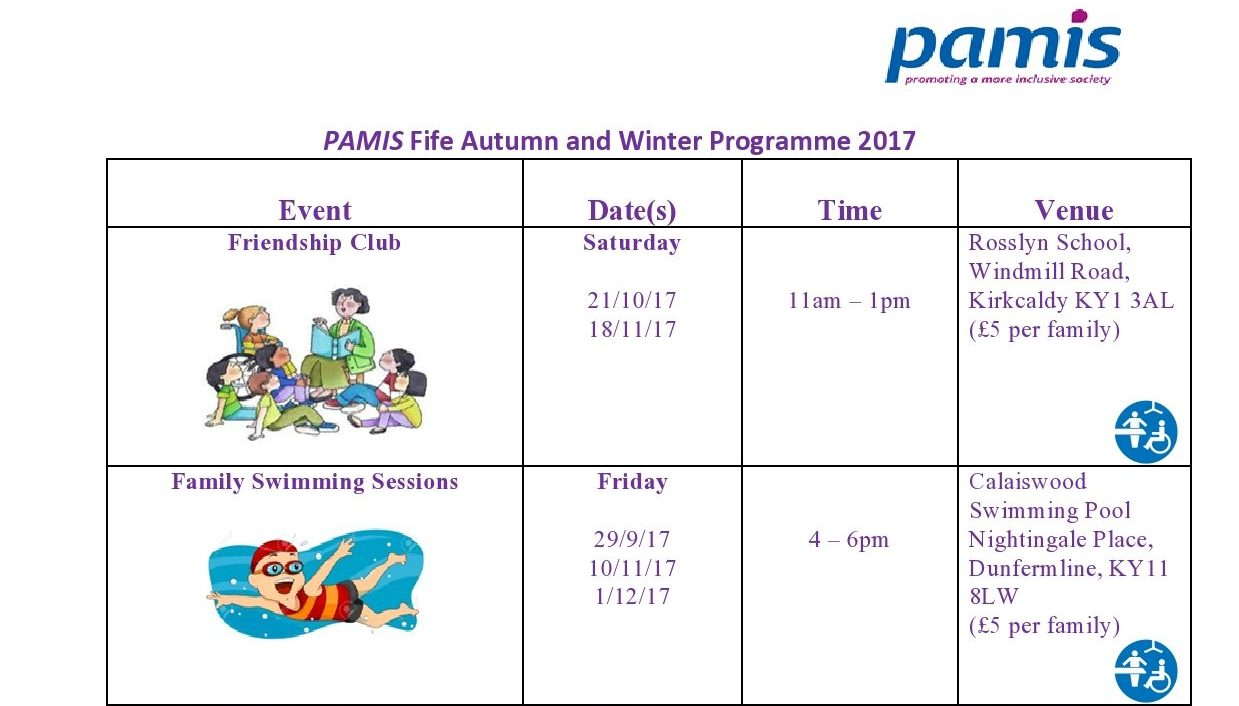 Fife Autumn and Winter activities programme