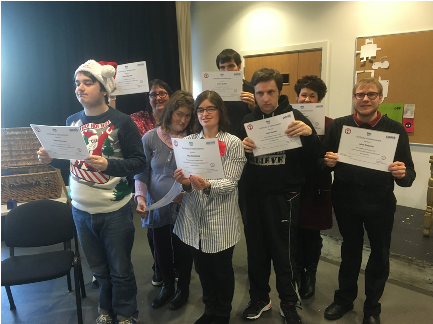 Certificate ceremony for the Angus Storytellers